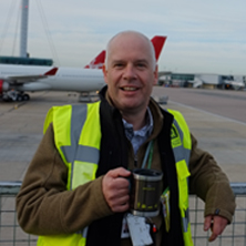 Adians Mug Shot! Adrian Todd, director with our branded travel mug