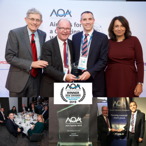 AiQ Wins Best Solution Provider at the AOA Awards 2019